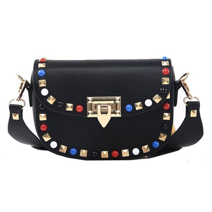 Mùa xuân Mùa Thu Mới Thời Trang Đinh Tán Mini PU Leather Túi Crossbody Cho Phụ Nữ của Designer Thương Hiệu Nổi Tiếng Túi Xách Nữ Shoulder Bags