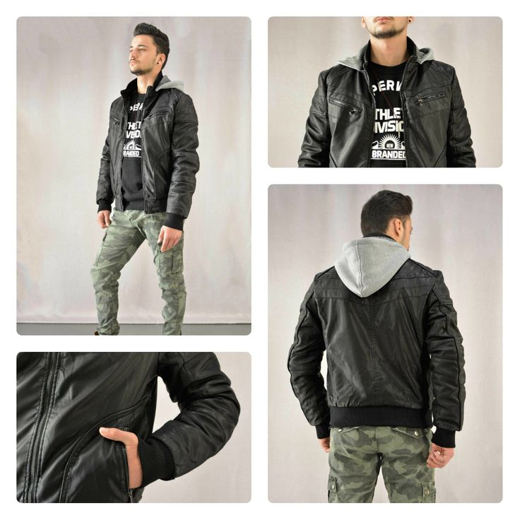 Leather jacket!!! Ανδρικό μαύρο μπουφάν με κουκούλα φούτερ.  ‪#‎metaldeluxe‬ ‪#‎mensfashion‬ ‪#‎mensclothing‬ ‪#‎shopping‬ ‪#‎onlineshopping‬ ‪#‎fashion‬ ‪#‎clothes‬ ‪#‎sales‬ ‪#‎jacket‬ ‪#‎leatherjacket‬