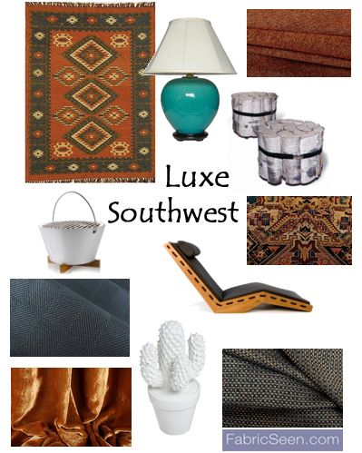 create beautiful southwestern inspired interior designs with this weeks curated fabric collection visit our design home interiorsdesign blogs
