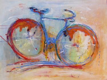 "Saatchi Art Artist Doris Duschelbauer; Painting, ""La bici"" #art"