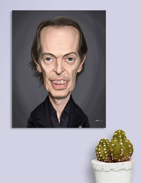 Discover «Steve Buscemi», Numbered Edition Canvas Print by rob art | illustration - art | decor | wall art | inspiration | caricature | home decor | idea | humor | gifts