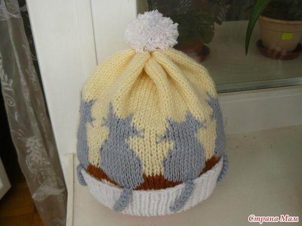 Захотела моя подруга для внучки такую шапочку. Вначале я связала эту