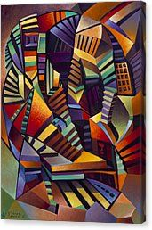 Curvismo Canvas Print - Labrynth I by Ricardo Chavez-Mendez