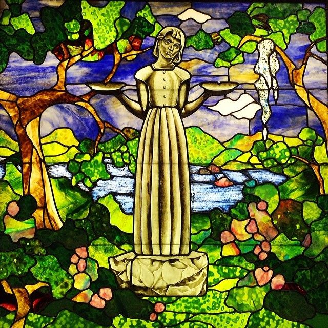 The Bird Girl Stained Glass At Clary 39 S Cafe A Must Eat When You 39 Re In Savannah Delicious