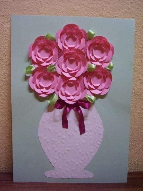 Paper flowers in a vase - fotopostup | Artmama.sk