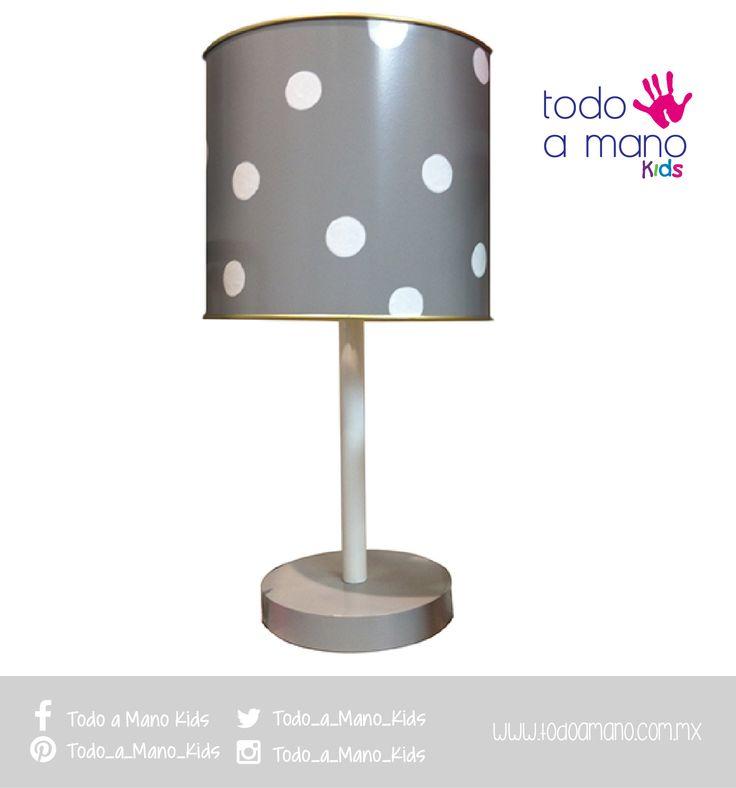 Elegante y discreta, lámpara en gris.  #kids #room #hechoenmexico #amano