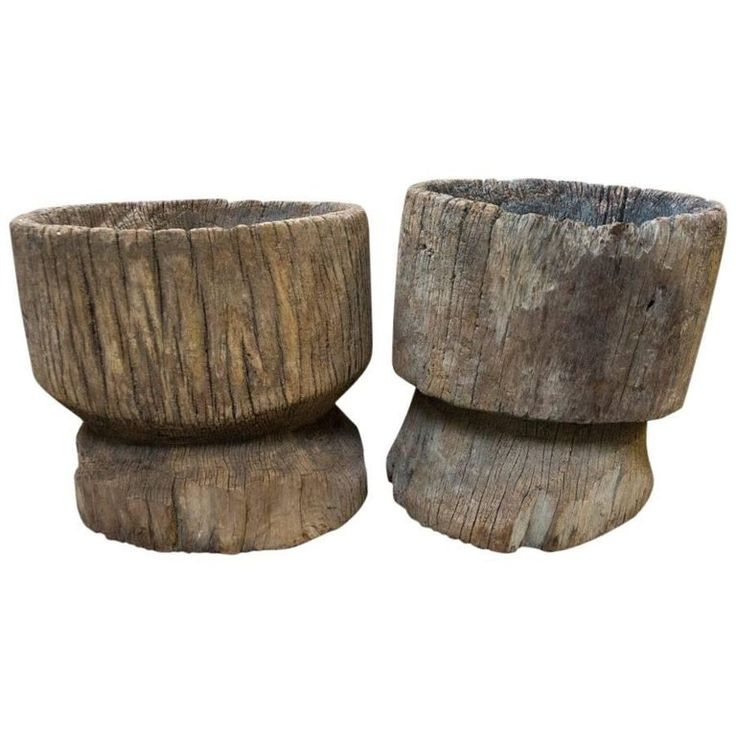 Wood Tree Stumps from India, circa 1920