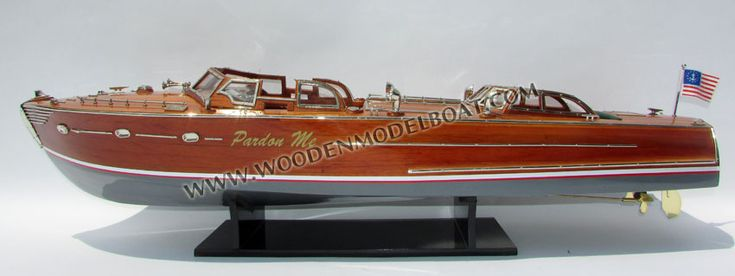 Wooden model boat Pardon Me by John Hacker
