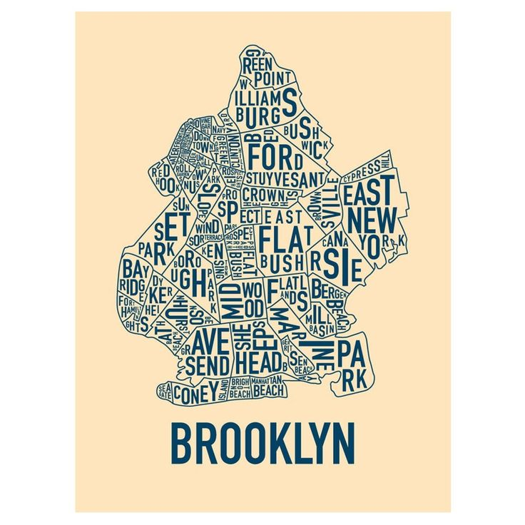 map-brooklyn-words.jpg 1000×1000 pixels