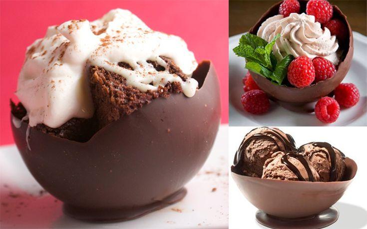 Un desert decadent in timp record. Cum sa faci cosulete de ciocolata - www.foodstory.ro