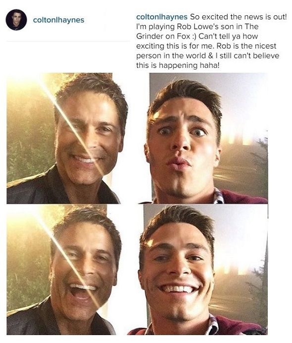 Colton Haynes to Play Rob Lowe's son on 'The Grinder'