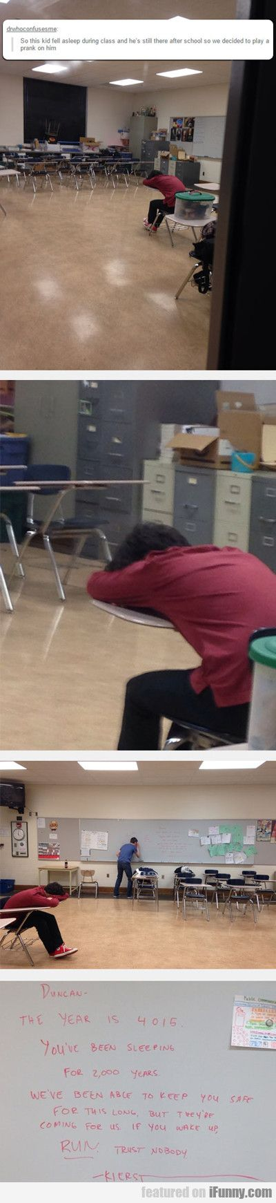 This Kid Fell Asleep In Class..