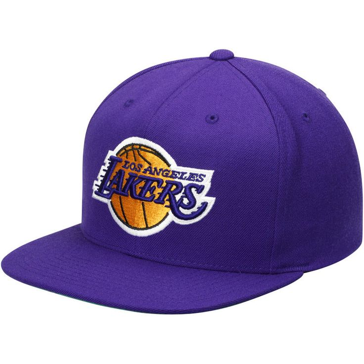 Los angeles lakers mitchell ness current logo wool solid