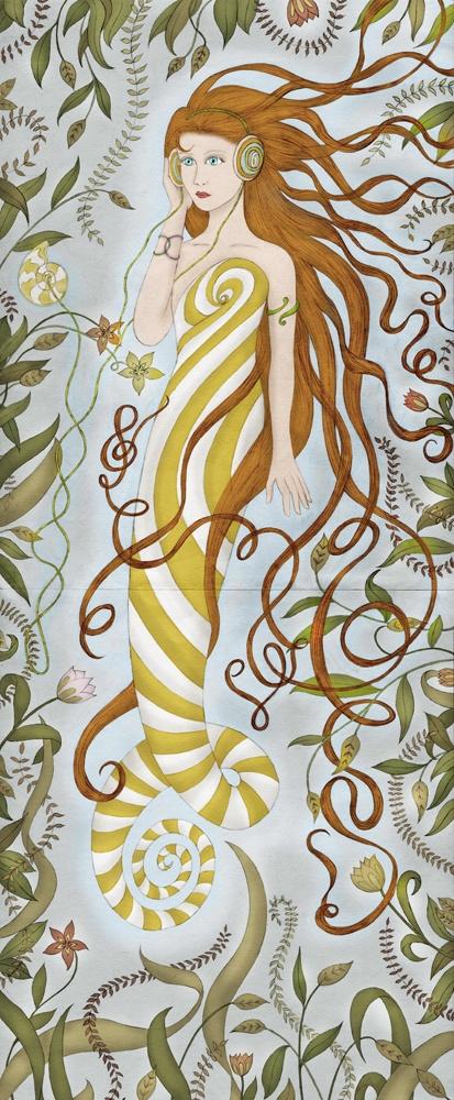 musical mermaid from don't rain on mondays.Rain Girls, Amazing Art, Mermaid Music, Girls Generation, Beach Finding, Art Prints, Music Mermaid, Music Art, Girls Art