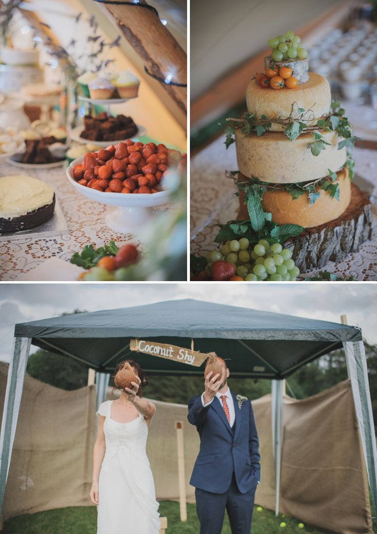 Beautiful 'Cheese Cake' and fresh wedding food ideas.