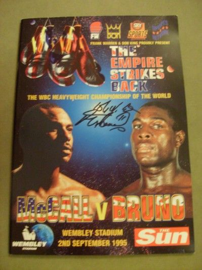 Frank Bruno vs Oliver McCall at Wembley 1995.  That was a proper day out, I can tell you.. #Boxing