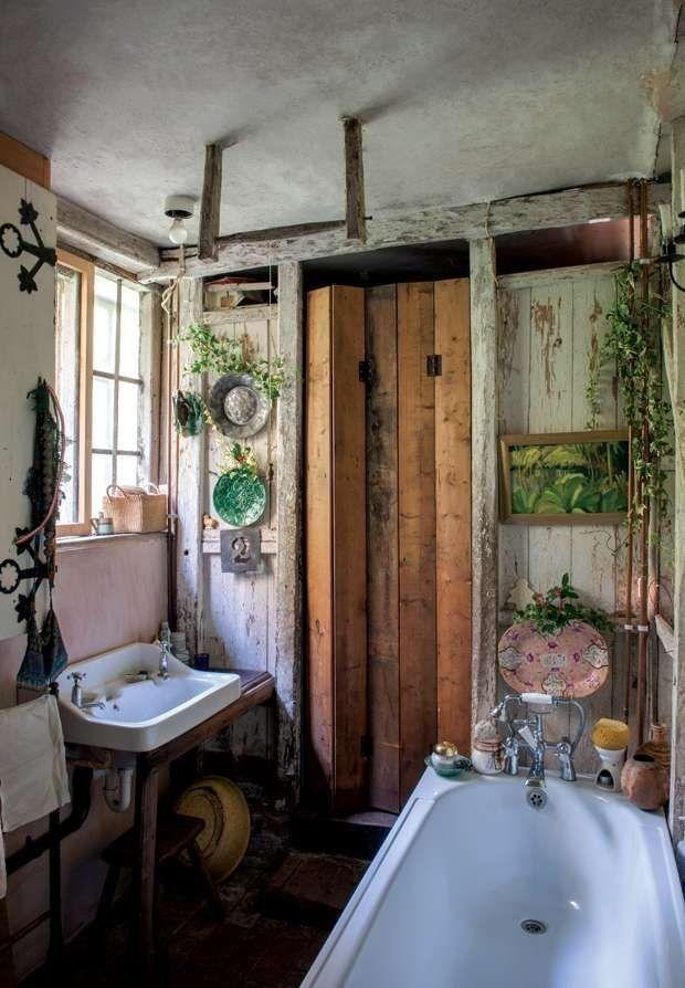 Boho Bathroom Badezimmer Dekor Vintage Einrichtungen Rustikales Haus