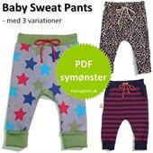 Symønstre til Baby Sweat Pants med variationer