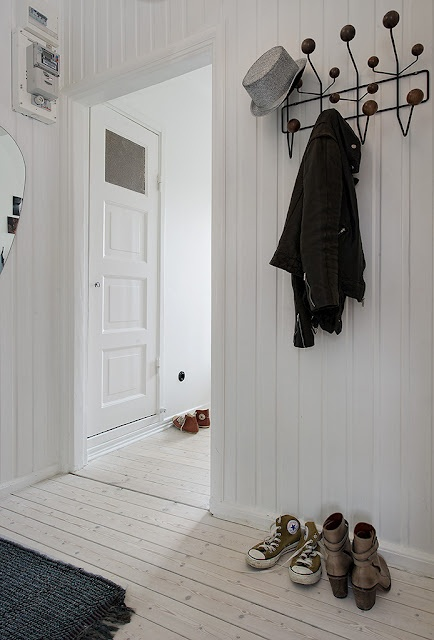 Gorgeous white painted floor boards