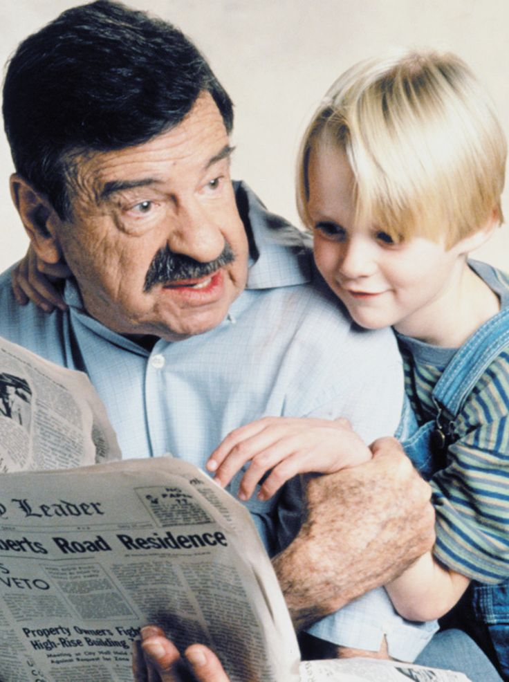 Walter Matthau and Mason Gamble for Dennis the Menace, 1993
