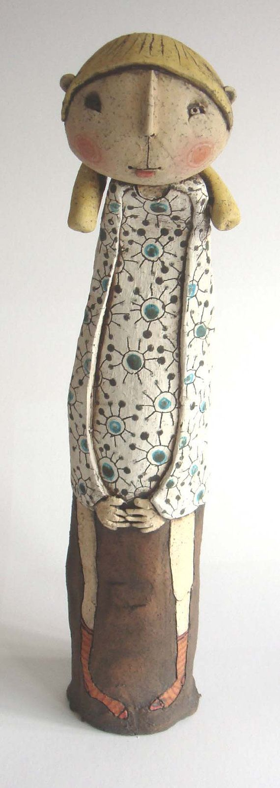 Emily Rowley Terrecotta Crank Clay and stands approximately 42cm tall..