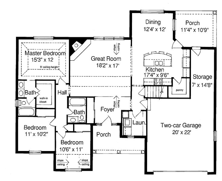 Houseplans house plans home plans floor plans for Long ranch house plans