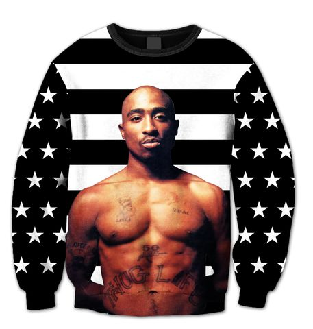 """Tupac """"America's Most Wanted"""" Crewneck"""