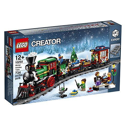Gather the family for some festive LEGO® building fun with this charming model featuring a full circle of track boarding platform with bench and lamppost a Power Functions upgradable train engine w...