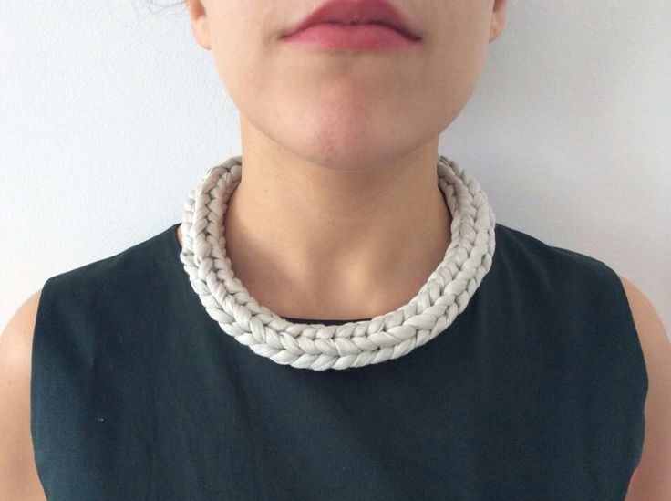 100% handmade 100% made with love _ necklace _ fabric+clay