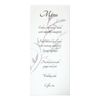 Modern Asian Inspired Wedding Reception Menu Card - modern gifts cyo gift ideas personalize