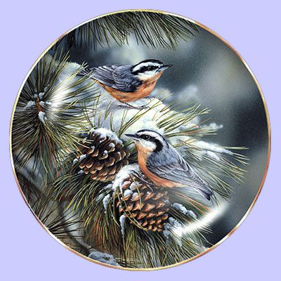 Winter Gems: Nuthatch - Hadley House - Artist: Rosemary Millette