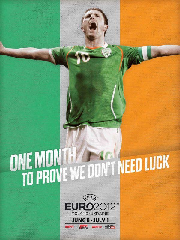 Euro 2012 posters. by NY artist Robert Broadbent for ESPN. quite nice. Robbie Keane!