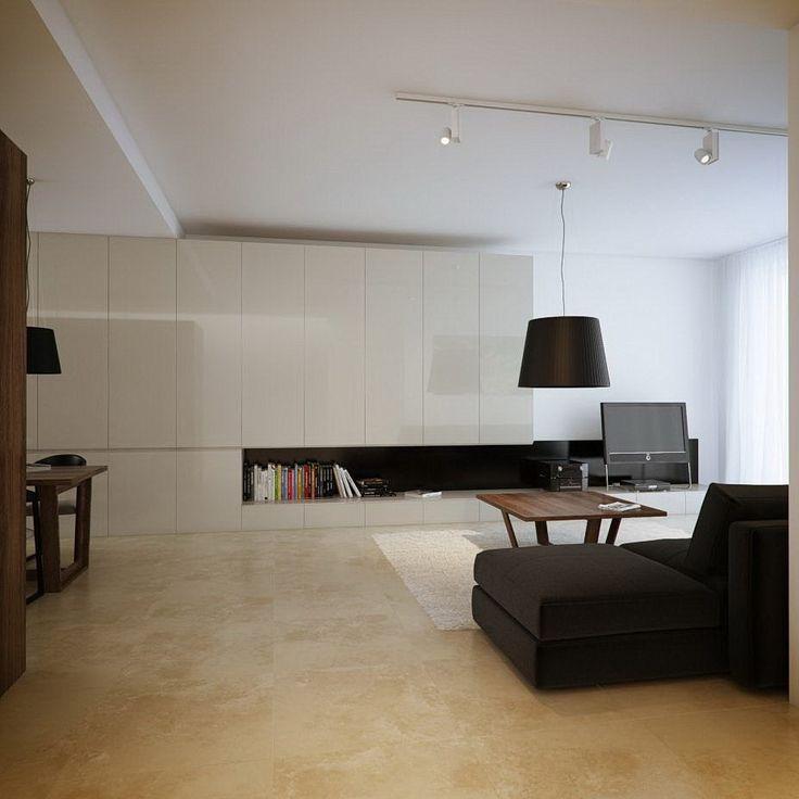 Contemporary White Cream Living Room Marble Floor Decor Part 73
