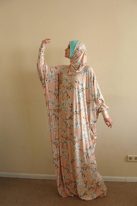 Ready to ramadan Floral beige Maxi Dress Plus Size, Prayer dress, Farasha Caftan, Boho dress,Muslim dress, abaya Dress,Modern hijab, Burqa,