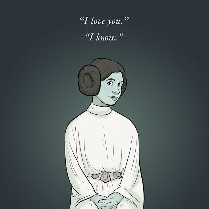 Perfectly sums up my feelings #RIPCarrieFisher by Artist Adam Ellis
