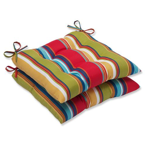 Pillow Perfect Westport Garden Wrought Iron Outdoor Seat Cushion, Set Of 2