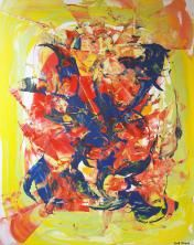 Feu d'artifice (2016) Acrylique 80x80 cm Prix de vente : CHF 1800.- Prix de location : CHF 90.- Réf. : MLHT4