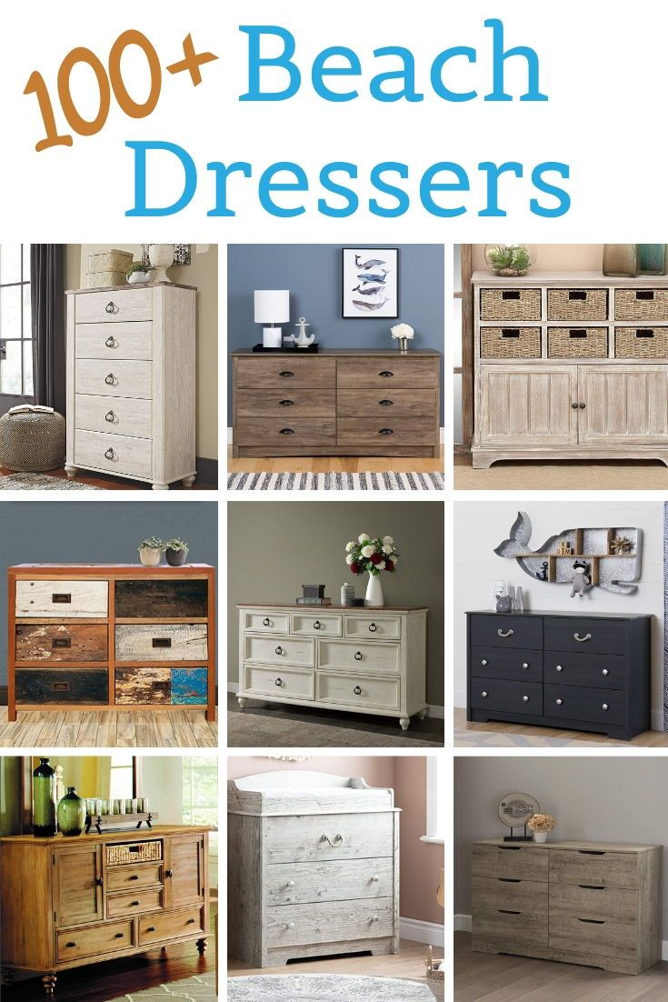 Coastal Dressers Beach Dressers Coastal Dresser Solid Wood