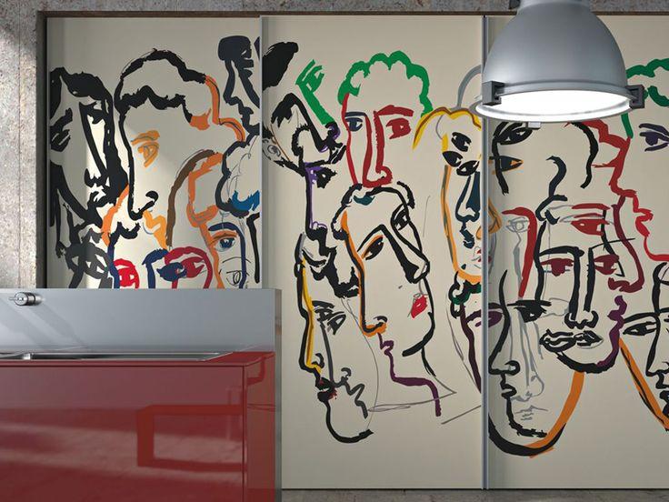 Cocina Integral De Vidrio Decorado ARTEMATICA VITRUM ARTE By VALCUCINE  Diseño Gabriele Centazzo