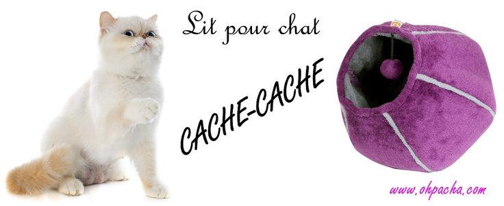 Découvrez le lit pour chat Cache-Cache. Tantôt niche, tantôt aire de jeux, votre matou va l'adorer ! Vous pouvez le retrouver dans notre boutique en ligne : http://www.ohpacha.com/canape-pour-chat/736-lit-pour-chat-cache-cache.html