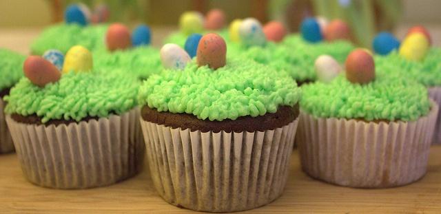 easter basket cupcakes II by beaumontpete, via Flickr