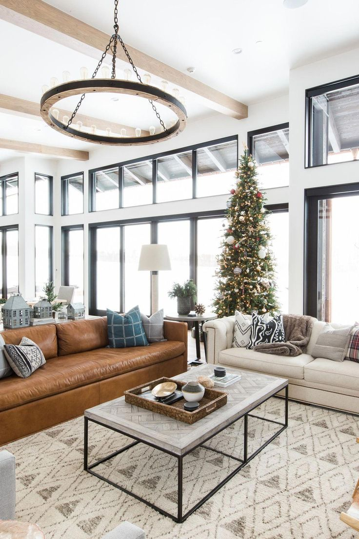 Modern mountain home holiday decor studio mcgee