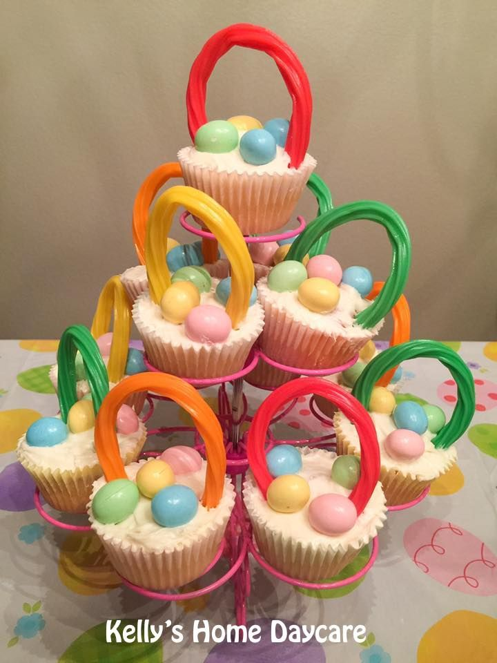 26 best kellys home daycare party ideas images on pinterest easter baskets made with cupcakes licorice and mms negle Images