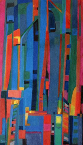 Salve Regina 1945 – Alfred Manessier  195 x 114 cm, huile sur toile  Musée des beaux-arts, Nantes, FRANCE  Mouvement : Nouvelle École de Paris