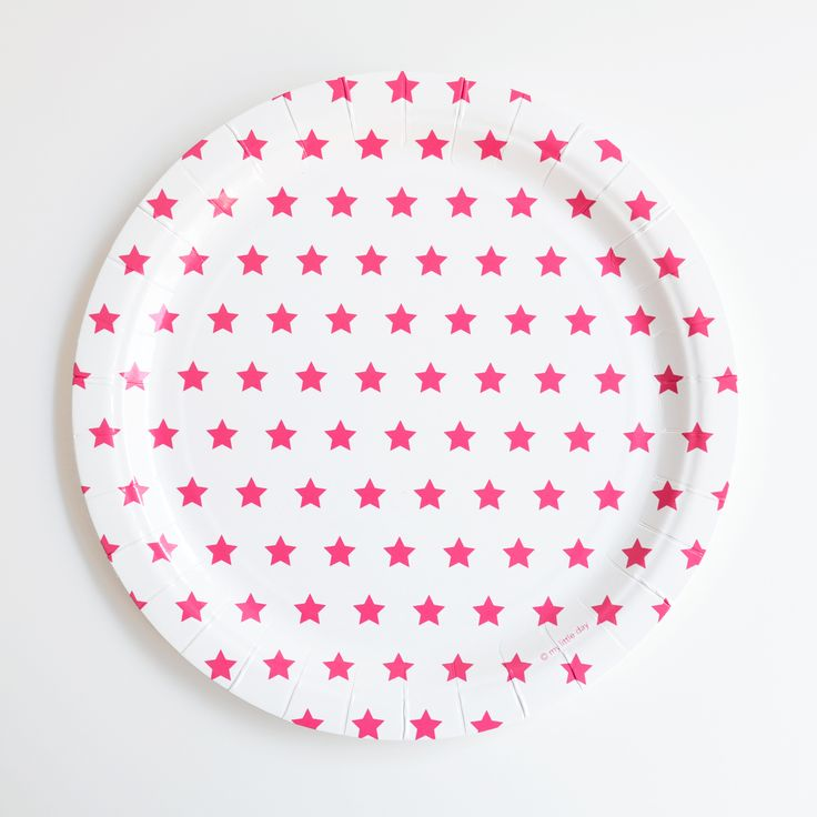 Set of 8 Pink Star Plates | The Carousel Show