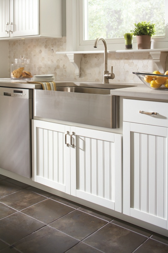 Aristokraft cabinetry 39 s traditional country sink cabinet for Perfect country kitchen