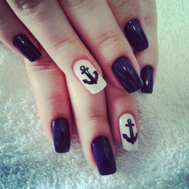 Anchors away #nails #beauty