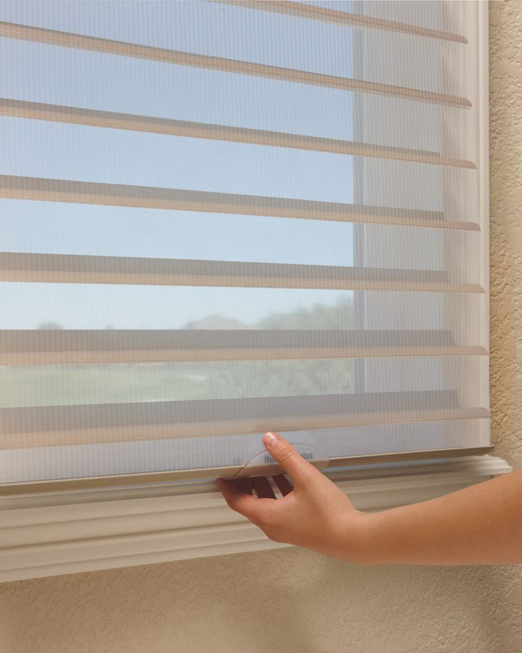 NEW! LiteRise (Cordless) Hunter Douglas Silhouette. Available through Ferris Blinds Shades & Shutters, Centreville, VA