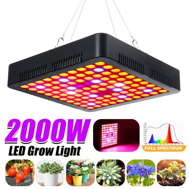 Stoneway Led Plant Grow Light Full Spectrum Lamp Indoor Greenhouse Veg Flower Walmart Com Grow Lights For Plants Led Grow Lights Grow Lights