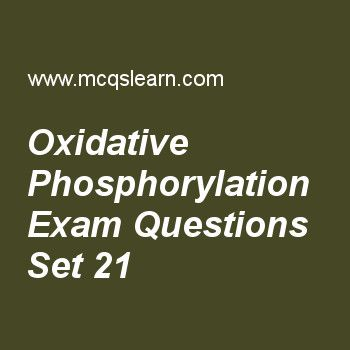 Practice test on mcat oxidative phosphorylation, MCAT quiz 21 online. Practice mcat: oxidative phosphorylation test with answers. Practice online quiz to test knowledge on, mcat: oxidative phosphorylation, mcat: fatty acids, allosteric and hormonal control, single and multiple allele, cycle, substrates and products worksheets. Free mcat: oxidative phosphorylation test has multiple choice questions as oxidative phosphorylation occurs in, answers key with choices as mitochondria, nucleus...